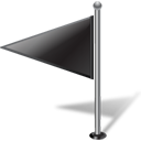 Flag left black-128