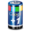 Google Plus One Battery icon