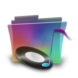 Folder rainbow music