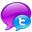 Small Twitter Logo in Blue-32