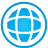 Web blue icon