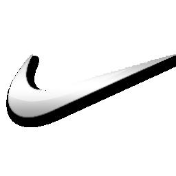 Nike white logo