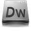 Adobe Dreamweaver CS4 Gray icon