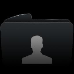 Folder black user