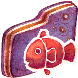 Fishy Violet Folder