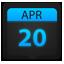 Calendar ice icon