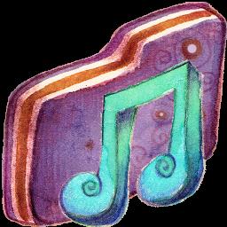 Music Alt Violet Folder