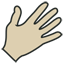 Hand vintage icon