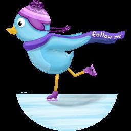 winter skating follow me