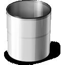 Empty Silver Trash Can