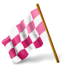 Map Marker Chequered Flag Left Pink-128