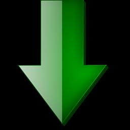 Fleche bas vert