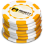 Yellow Casino Chips icon