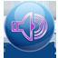 Volume violet icon