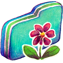 Flower Green Folder