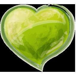 Herz grun