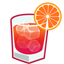 Negroni cocktail icon