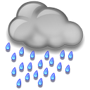 Heavy Rain at Night