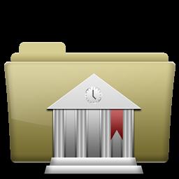 Folder Library Brown