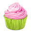 Pinky Cupcake Icon