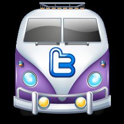 Twitter van purple