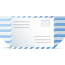 Blue White Envelope-128