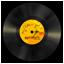 Vinyl orange icon