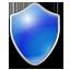 Shield blue icon