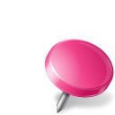 Map Marker Drawing Pin Right Pink-128