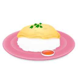 Omelet And Rice Icon Download Up2youfood Icons Iconspedia