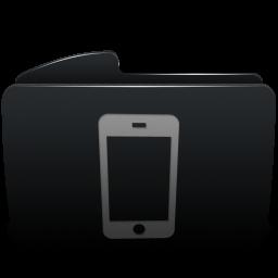Folder black iphone