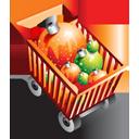 Christmas Shopping Cart-128
