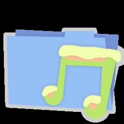 Blue folder music