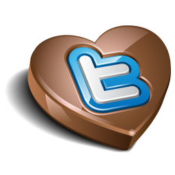 Twitter heart chocolate
