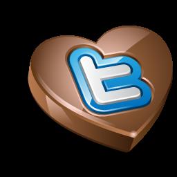 Twitter heart chocolate