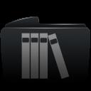 Folder black library-128