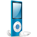 iPod Nano blue on-128