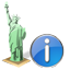 Statue of Liberty Info icon