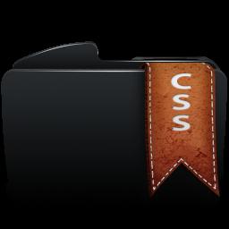 Folder black css