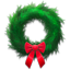 Holiday wreath icon
