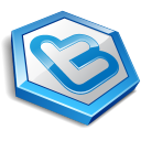 Blue shape twitter-128