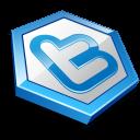 Blue shape twitter-128