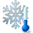 Thermometer snowflake-128