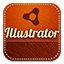 Illustrator retro icon