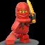 Lego Ninja Red icon