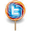 Twitter lollipop icon
