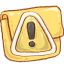 Folder Caution icon