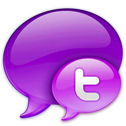 Small Twitter Logo in Pink