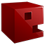 E 3D letter Icon