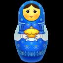 Blue Matreshka Big-128